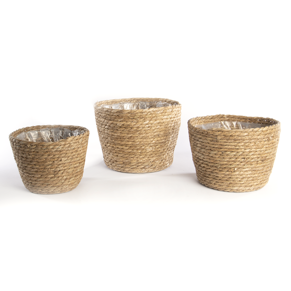 Seagrass Planters - Set of 3   M&W