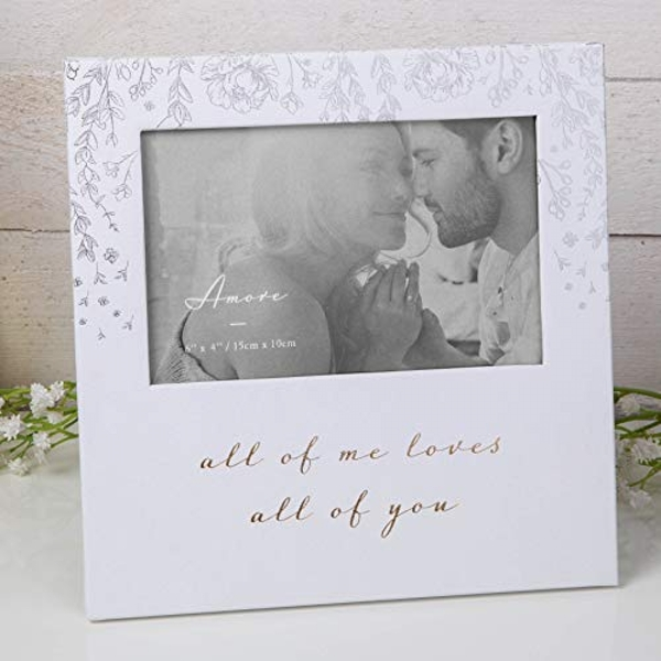 "6"" x 4"" - AMORE BY JULIANA? Photo Frame - Loves All Of You"