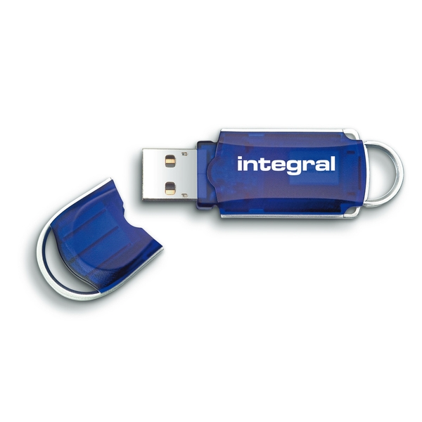 Image of Integral 256GB USB2.0 Memory Flash Drive (Memory Stick) Courier Blue