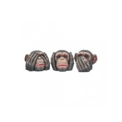 Three Wise Chimpanzees Monkey Statues