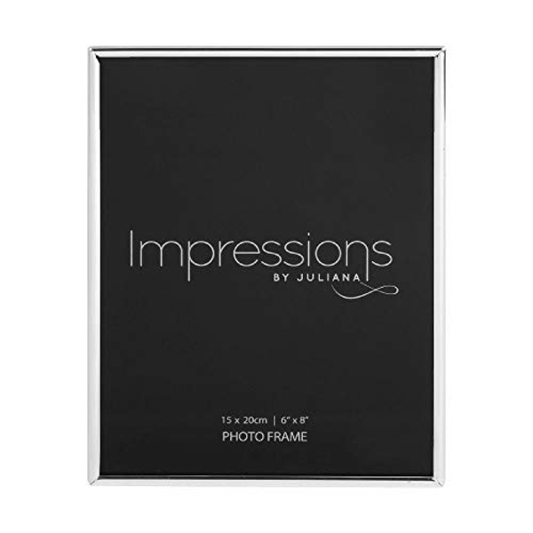 "6"" x 8"" - Impressions Thin Silver Plated Photo Frame"