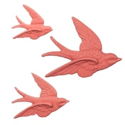 Sass & Belle Swallow Wall Decorations Dusky Pink - Set of 3