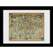 Transport For London Tapestry Map 60 x 80 Framed Collector Print - Image 2