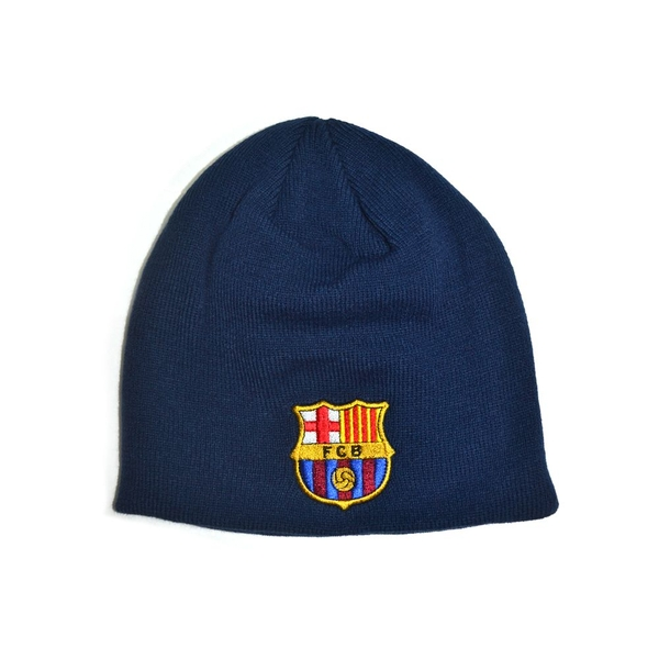 FC Barcelona Knitted Beanie Hat Navy