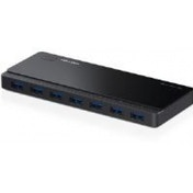 TP-LINK UH700 7-Port USB 3.0 Hub with UK Power Adaptor and 1m USB 3.0 Cable Black