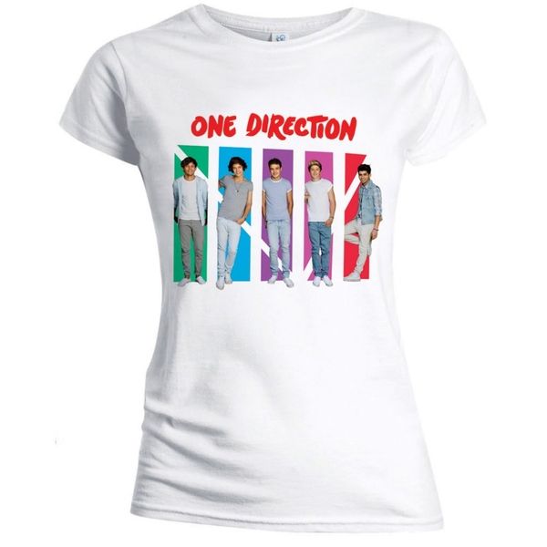 One Direction - Colour Arches Women's X-Large T-Shirt - White