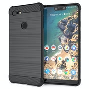 CASEFLEX GOOGLE PIXEL 3 XL CARBON ANTI FALL TPU CASE - BLACK