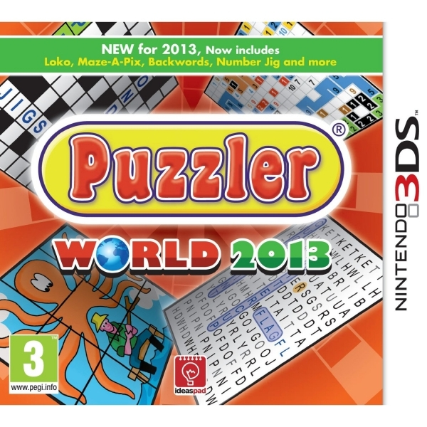 Puzzler World 2013 Game 3DS