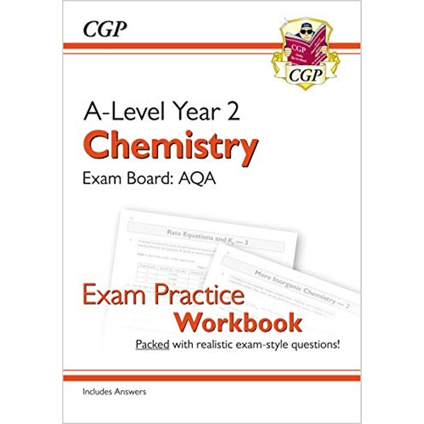 New A-Level Chemistry: AQA Year 2 Exam Practice Workbook - includes Answers  Paperback / softback 2018