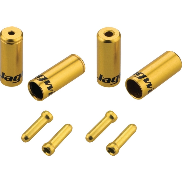 Jagwire Brake/Gear Universal Pro End Cap Packs (For Braided Housing) Gold 4.5/5mm