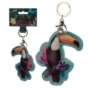 Leatherette Toucan Keyring