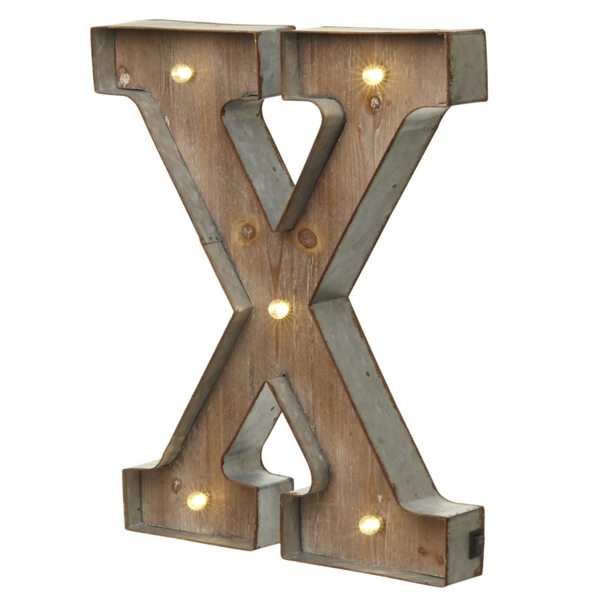 X With Led Letter By Heaven Sends