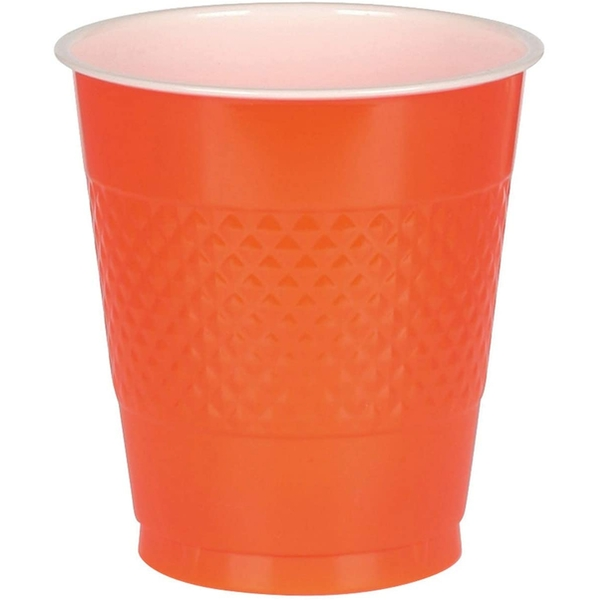 Plastic Cups Orange (20 In A Set)