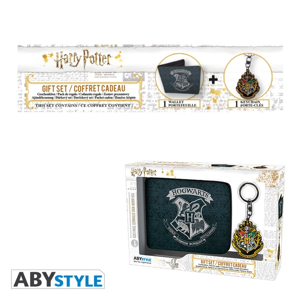 Harry Potter - Wallet + Keyring Hogwarts Gift Box
