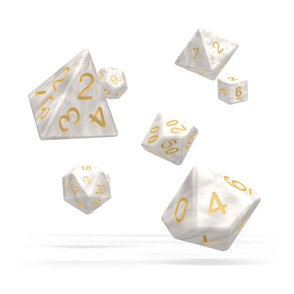 Oakie Doakie Dice RPG Set (Marble White)