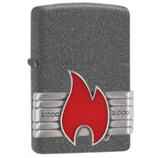 Zippo Unisex's Red Vintage Wrap Iron Stone Windproof Lighter