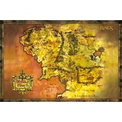 Lord Of The Rings Classic Map Maxi Poster