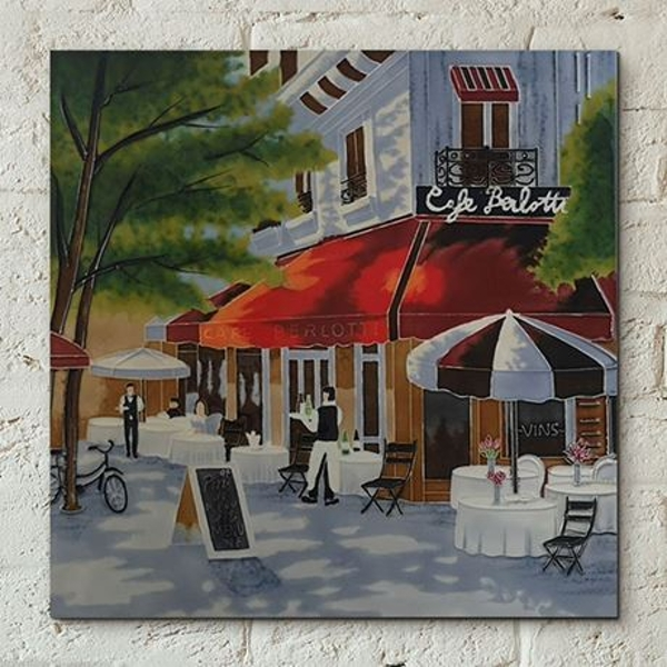 Tile 12x12 Cafe Berlotti By B Heighton Wall Art