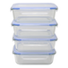 Set of 4 Glass Airtight Food Storage Containers | M&W - Image 9