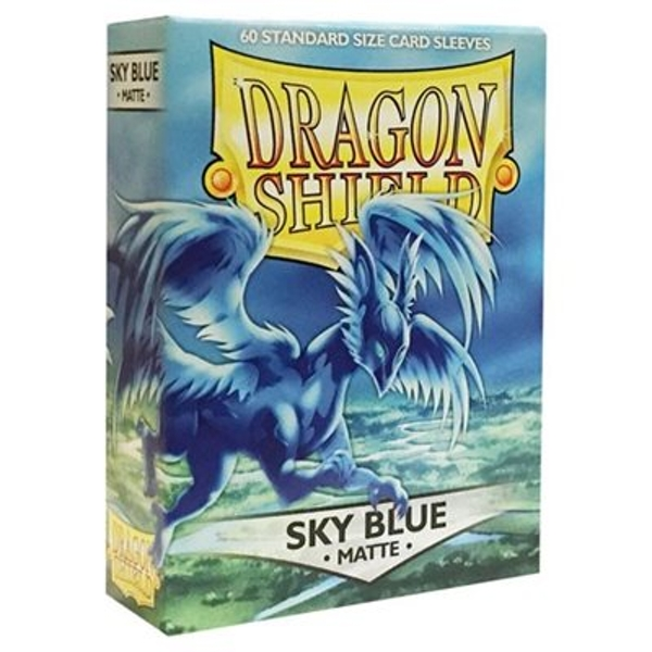 Dragon Shield Matte - Sky Blue 60 Sleeves In Box - 10 Packs