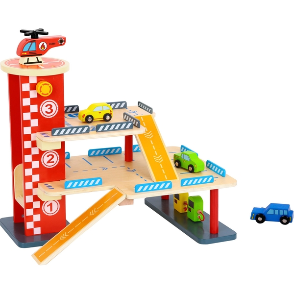 Wooden Parking Structure Playset