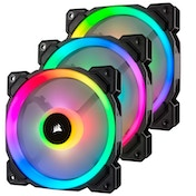 Corsair LL120 12cm PWM RGB Case Fan x3, 16 LED RGB Dual Light Loop, Hydraulic Bearing, 3 Pack