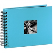 Hama Fine Art Spiral Bound Album 24x17cm 50 black pages (Turquoise)