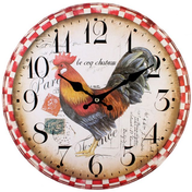 Shabby Chic Cockerel Wall Clock