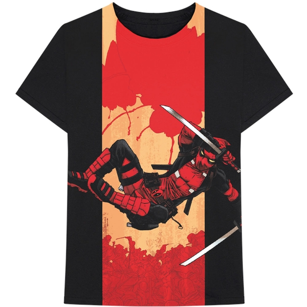 Marvel Comics - Deadpool Samurai Men's X-Large T-Shirt - Black