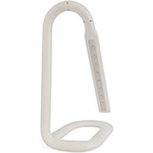 Lloytron 2W LED Paperclip Touch Operated Flexi Neck Desk Lamp White New