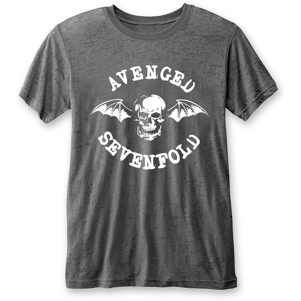 Avenged Sevenfold - Deathbat Unisex Large T-Shirt - Grey