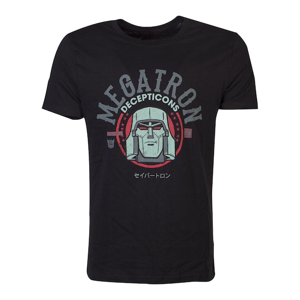Hasbro - Transformers Decepticons Megatron Men's Medium T-Shirt - Black