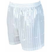 Precision Striped Continental Football Shorts 34-36 inch White