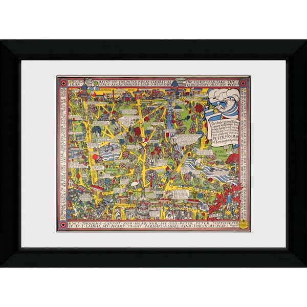 Transport For London Map 2 50 x 70 Framed Collector Print