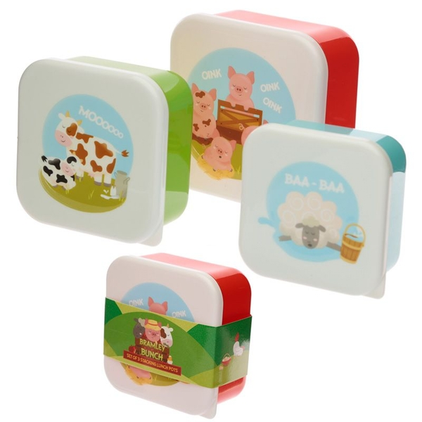 Set of 3 Lunch Boxes - Bramley Bunch Farm