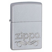 Zippo Scroll Satin Chrome Windproof Lighter