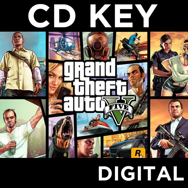 Grand Theft Auto GTA V (Five 5) PC CD Key Download for RGSC - Image 1