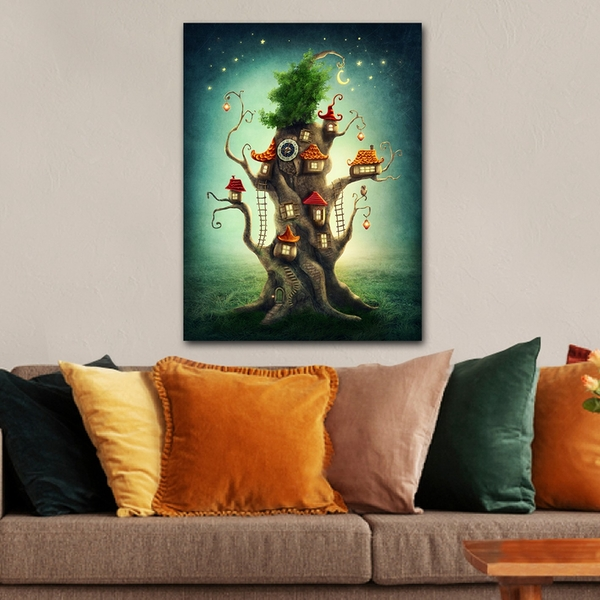 1113139658_70100 Multicolor Decorative Canvas Painting Teehouse