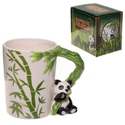 Jungle Mug with Panda and Bamboo Handle
