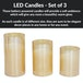 LED Candles - Set of 3 | M&W Gold - Image 5