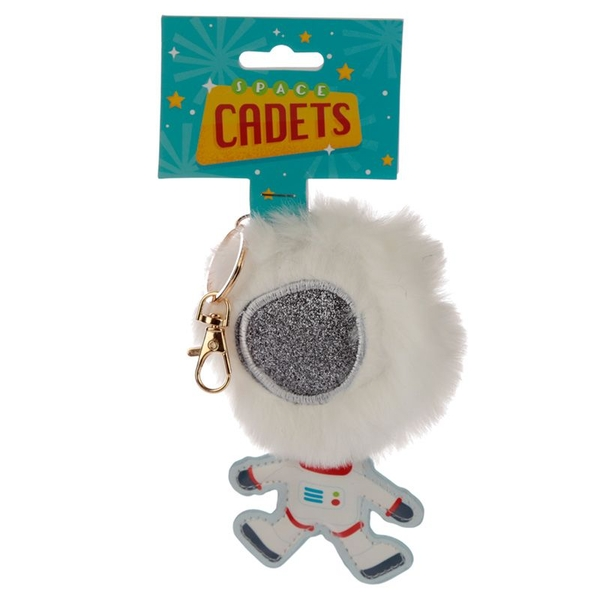 Space Cadets Spaceman Astronaut Pom Pom Keyring