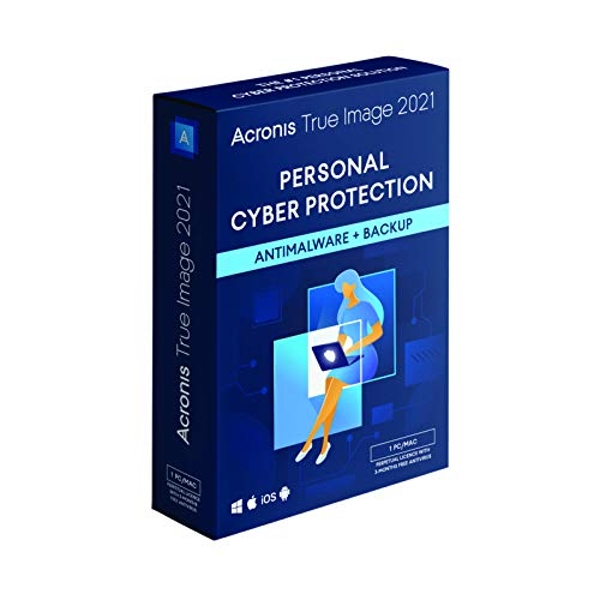 Acronis True Image 2021 | 1 PC/Mac | Perpetual License | Personal Cyber Protection | Integrated Backup and Antivirus