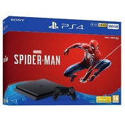 Playstation 4 (500GB) Black Console with Marvel's Spider-man