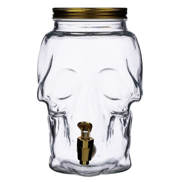 Clear Glass Skull Shaped Water Decanter