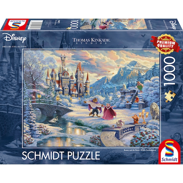Beauty And The Beast Winter Jigsaw (1000 piece)