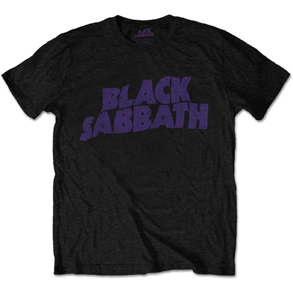 Black Sabbath - Wavy Logo Kids 11 - 12 Years T-Shirt - Black