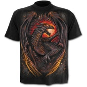 Dragon Furnace Men's X-Large T-Shirt - Black