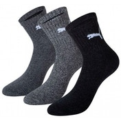 Puma Short Crew Socks Ant/Grey UK Size 6-8 Pack of 3