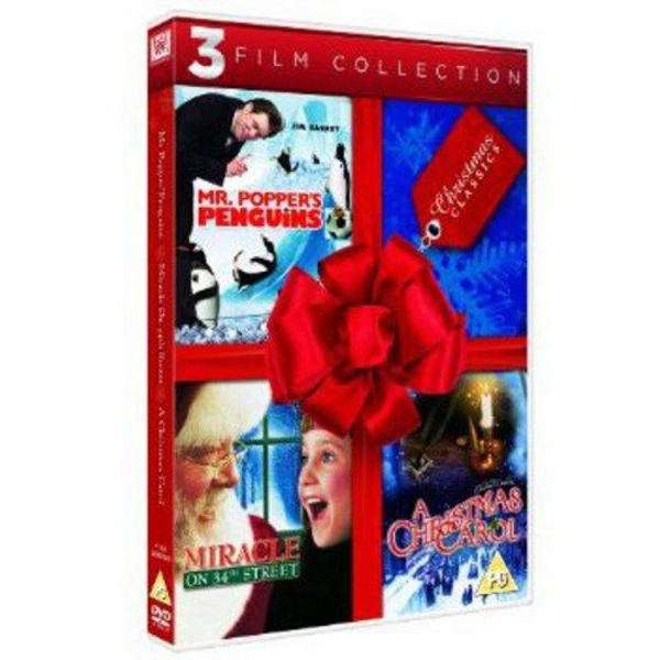 Mr. Popper's Penguins/ A Christmas Carol/ Miracle on 34th Street Christmas Collection DVD