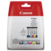 Canon 0372C004 (570 571) Ink cartridge multi pack, 15ml   4x7ml, Pack qty 5